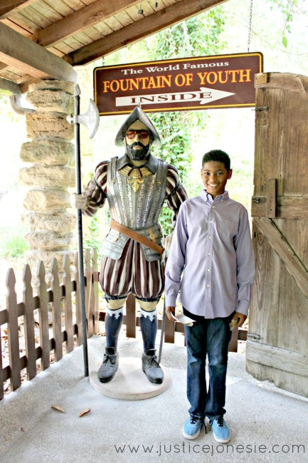 Taking the St. Augustine Fountain of Youth Tour via @JusticeJonesie