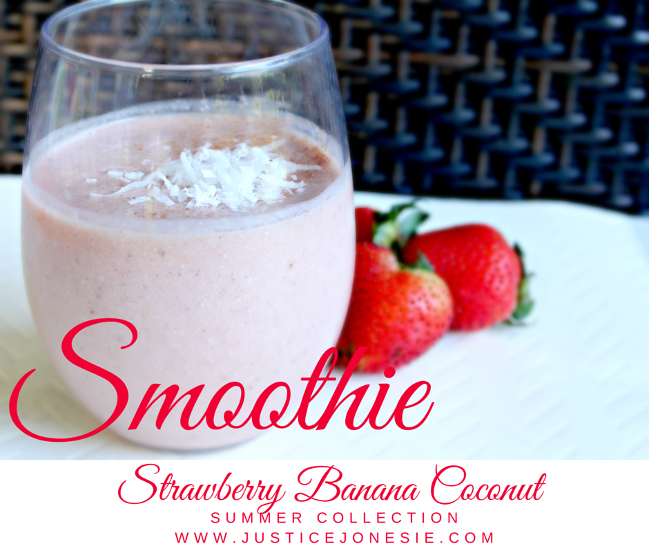 Recipe: Strawberry Banana Coconut Smoothie