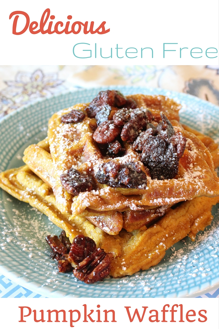 Recipe: Gluten Free Pumpkin Waffles With Candied Pecans