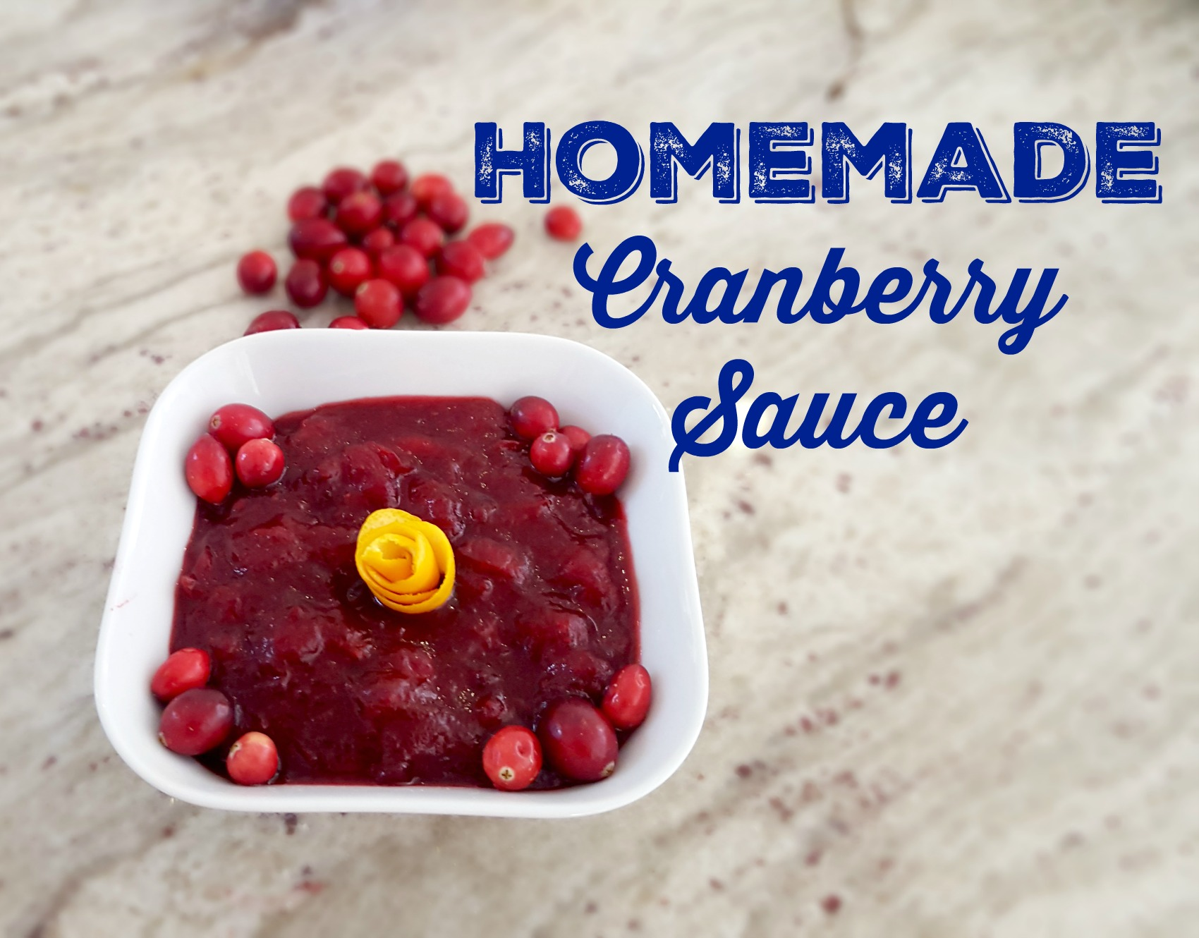 Recipe: The Best Homemade Cranberry Sauce Ever