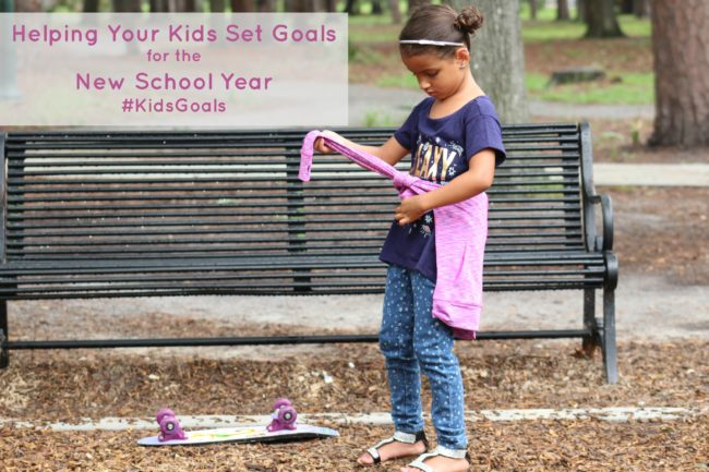 Helping Your Kids Set Goals for the New School Year #KidsGoals