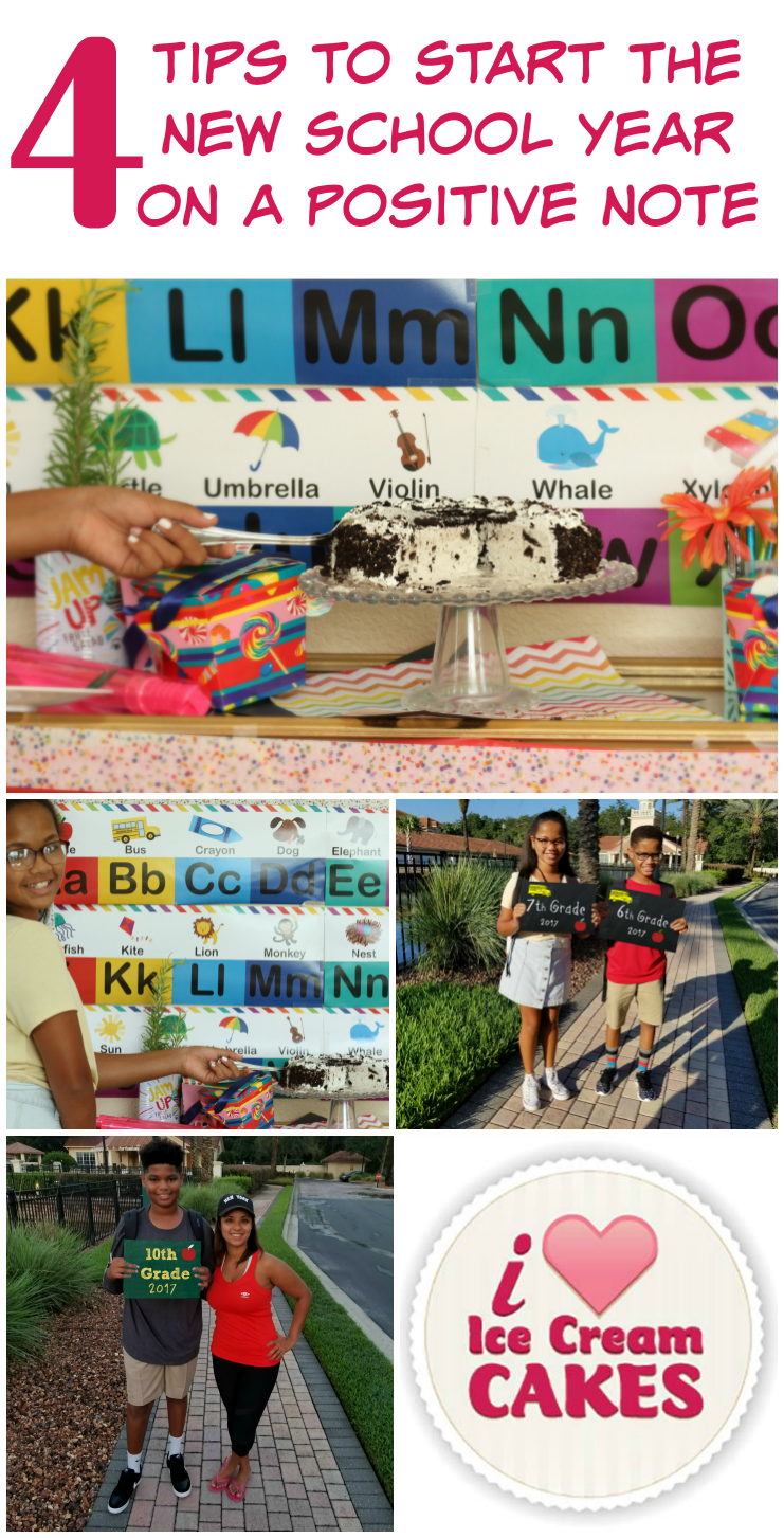 A must read!! 4 Tips to Start the New School Year on A Positive Note #BackToSchool #IloveIceCreamCakes #ad #OREO