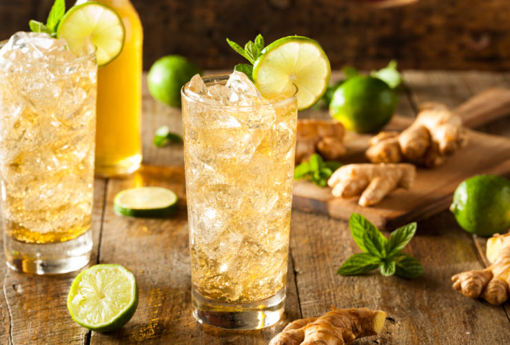 Recipe: Refreshing Golden Ginger Beer with Lime and Mint
